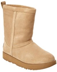 bc854d4cdc3 Classic Short Waterproof Suede Boot - Natural