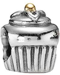 PANDORA 14k & Silver Charm - Metallic