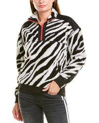 Rag & Bone Zebra-print Half-zip Pullover - Black