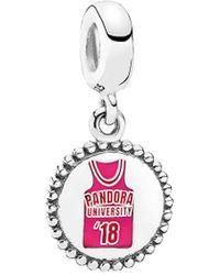 PANDORA Jewellery Silver University Dangle Charm - Multicolour