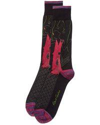 Robert Graham Casablanca Socks - Black