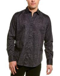 Robert Graham Branson Woven Shirt - Blue