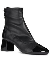 Geox Seylise Patent Ankle Boot - Black