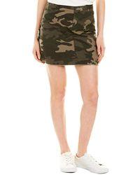 ATM Camo Print Stretch Cotton Miniskirt - Green
