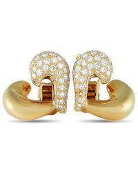 Van Cleef & Arpels Vintage Van Cleef & Arpels 18k 1.10 Ct. Tw. Diamond Clip-on Earrings - Metallic