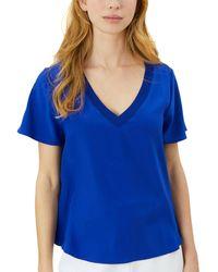 MILLY Silk T-shirt - Blue