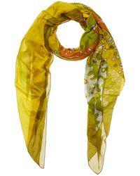 Hermès - Green Dolphin Cotton Scarf - Lyst