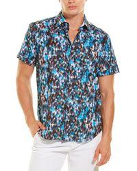 Robert Graham Fort Hood Woven Shirt - Blue