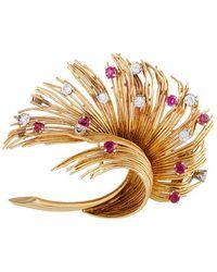 Heritage Tiffany & Co. - Tiffany & Co. 18k 1.55 Ct. Tw. Diamond & Ruby Brooch - Lyst