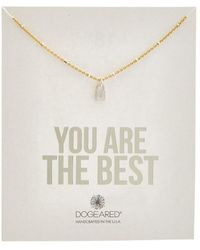 Dogeared - Silver Beaded Lock Charm Necklace - Lyst