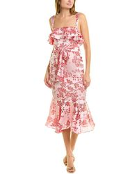 Likely Madeline Midi Dress - Pink