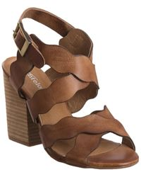 Antelope Scalloped Classic Sandal - Brown