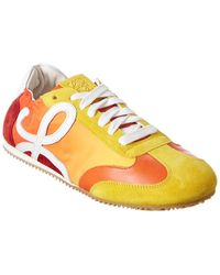 Loewe Leather & Suede Trainer - Yellow