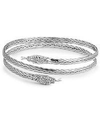 Samuel B. Silver Snake Bangle Bracelet - Metallic