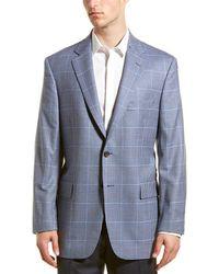 Brooks Brothers Madison Fit Wool Sport Coat - Blue