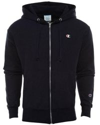 Champion Full Zip Hoodie - Black