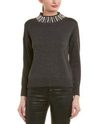 Madison Marcus Zinfandel Pearl Mock Sweater - Gray