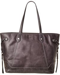 Frye Melissa Large Carryall Leather Tote - Grey