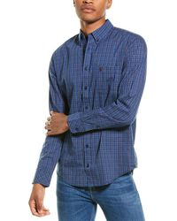Joules Welford Classic Fit Woven Shirt - Blue