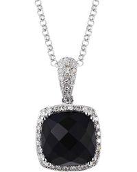Diana M. Jewels . Fine Jewellery 14k 2.63 Ct. Tw. Diamond & Onyx Necklace - Black