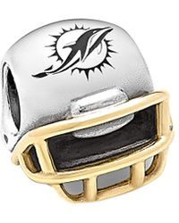 PANDORA Nfl 14k & Silver Miami Dolphins Helmet Charm - Metallic