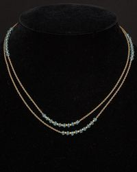 Argento Vivo - 18k Over Silver Apatite 36in Necklace - Lyst