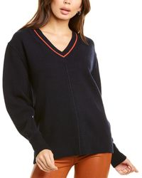 Velvet By Graham & Spencer Haidee Wool & Cashmere-blend Jumper - Blue
