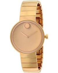 Movado Rose Gold Edge Watch - Metallic