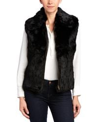 Surell - Natural Vest With Zipper - Lyst