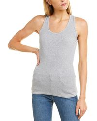 Three Dots Fitted Tank - Gray