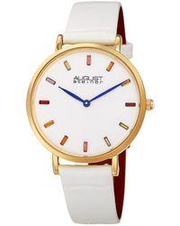 August Steiner Leather Watch - Metallic