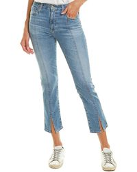 AG Jeans The Isabelle 19 Years Hollows High-rise Straight Crop - Blue