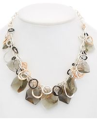 Robert Lee Morris Shake It Up Plated Link Frontal Necklace - Multicolour