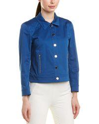Lafayette 148 New York Sage Jacket - Blue