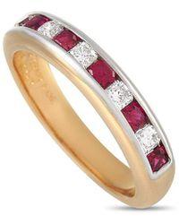 Heritage Tiffany & Co. Tiffany & Co. 0.75 Ct. Tw. Diamond & Ruby Ring - Multicolour