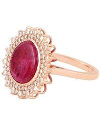 Artisan Nyc 18k 4.32 Ct. Tw. Diamond & Ruby Ring - Pink