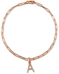 Sabrina Designs 14k Rose Gold 0.08 Ct. Tw. Diamond A-z Initial Bracelet (a-z) - Metallic