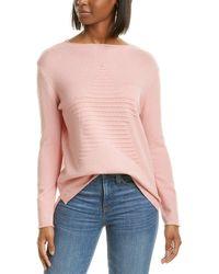 Workshop Rolled Trim Sweater - Pink