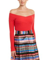 MILLY - Criss Cross Pullover - Lyst