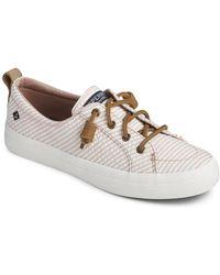 Sperry Top-Sider Crest Vibe Seersucker Sneaker - White