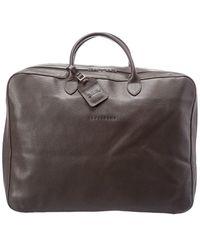 Longchamp Leather Duffel Bag - Brown