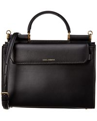 Dolce & Gabbana Sicily 62 Small Leather Satchel - Black