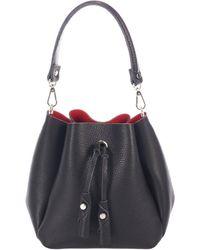 Giorgio Costa Leather Bucket Bag - Black