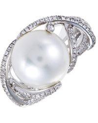 Mikimoto 18k 0.51 Ct. Tw. Diamond & 12mm Pearl Ring - Multicolour