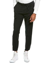 Theory Luxe Sartorial Suiting Wool-blend Jogger - Black