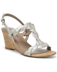 Donald J Pliner Jooli Leather Wedge Sandal - Metallic