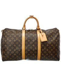 Louis Vuitton Monogram Canvas Keepall 50 - Brown