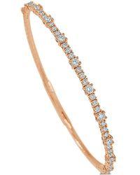 Sabrina Designs 14k Rose Gold 1.00 Ct. Tw. Diamond Bangle Bracelet - Metallic