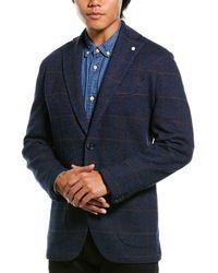 Lubiam Jack Wool-blend Sportscoat - Blue