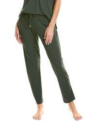Hanro Sleep And Lounge Knit Long Pant - Green